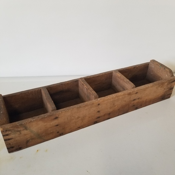 Vintage Other - Vintage Wooden Primitive Sectional Box